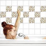 Fliesenaufkleber für Küche und Bad | Fliesenfolie für 15x20cm Fliesen | Mosaik Steam-Punk matt | 42 Stück | Klebefliesen günstig in 1A Qualität von PrintYourHome