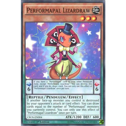 YuGiOh : CROS-EN004 1st Ed Performapal Lizardraw Common Card - ( Crossed Souls Yu-Gi-Oh! Single Card )