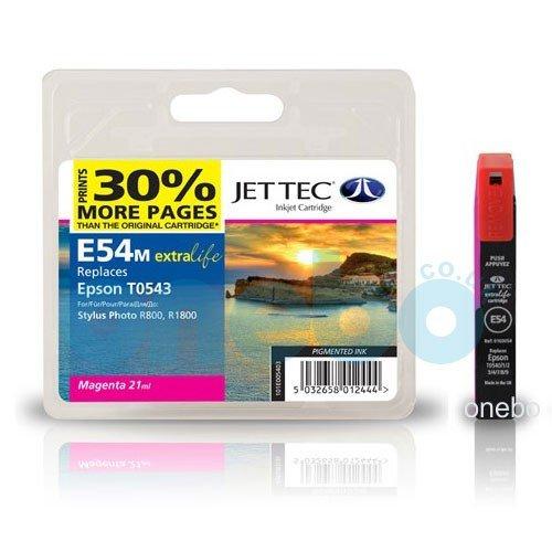 JET TEC Tinte für EPSON Stylus Photo R800 / R1800, magenta Inhalt:...