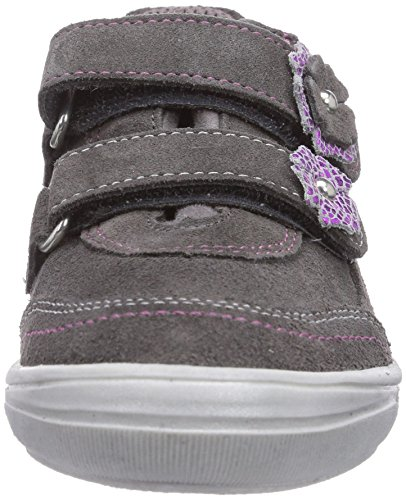 Richter Kinderschuhe Dandi  3035-521, Low-Top Sneaker bambina Grigio (Grau (pebble/fuchsia  6611))