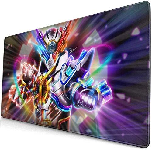 Kamen Rider Build Genius - Alles super !! Genius!! 15,8x29,5 Zoll großes Gaming-Mauspad Schreibtischunterlage Lange rutschfeste, mit Gummi genähte Kanten -