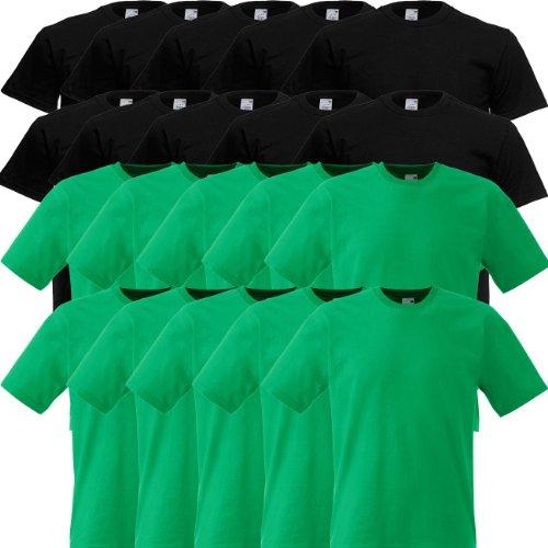 Fruit of the Loom Original Full-Cut T Rundhals T-Shirt F110 5er 10er 15er 20erPack 10x white 10x royal blue