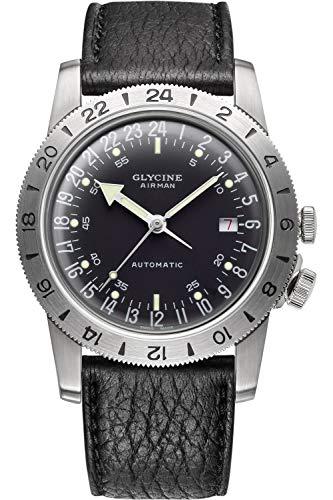 Glycine Airman Herren Uhr analog Automatik mit Leder Armband GL0163