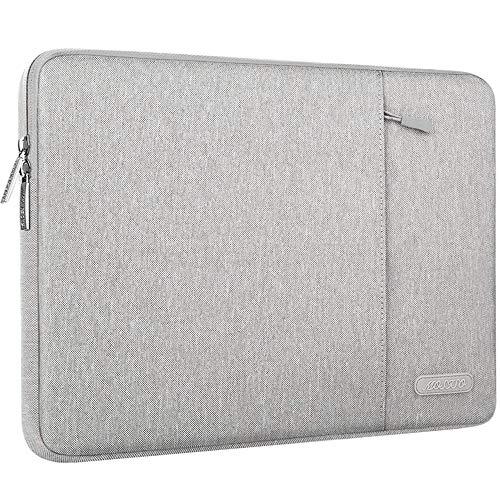 MOSISO Tablet Hülle Kompatibel mit 9,7-11 Zoll iPad Pro, iPad 7 10,2 2019, iPad Air 3 10,5, iPad Pro 10,5, Surface Go 2018, iPad 3/4/5/6 Wasserabweisend Polyester Vertikale Tasche, Grau