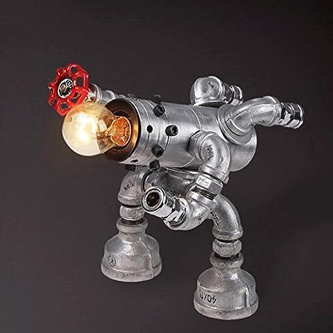Robot retro de la lámpara barra de hierro forjado decorativos accesorios de plomería personalidad creativa de América