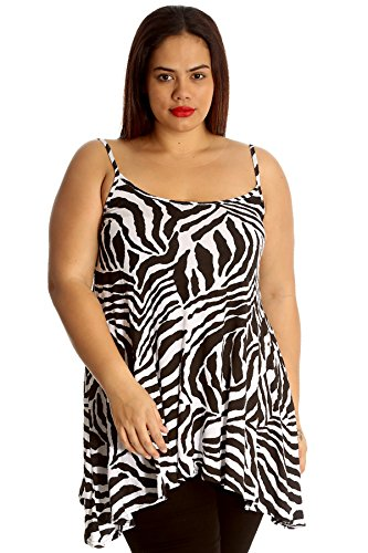 Zebra Print Tank Top White 28-30 (Bustier Zebra-print)