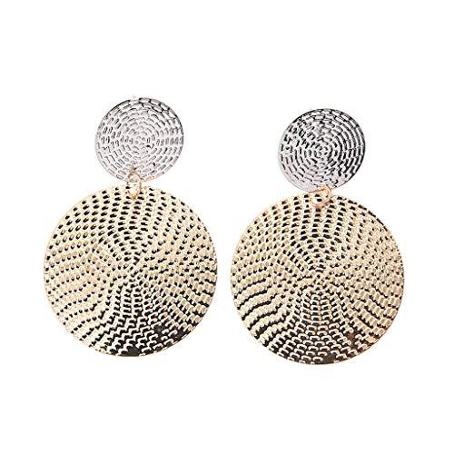 ZYUEER Mode Einfach Und GroßZüGig Runde ErhöHt üBertrieben AnhäNger Ohrringe Schmuck -