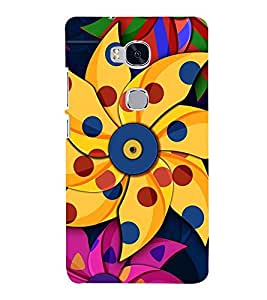 Vizagbeats Paper Pin Wheel Flower Back Case Cover for Huawei Honor 5X