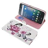 foto-kontor Tasche für Acer Liquid Z630 Liquid Z630S Liquid M630 Book Style Lotus Blüte Schutz Hülle Buch