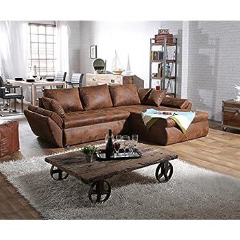 couch loana braun 275x185 cm ecksofa schlaffunktion ottomane variabel k che haushalt. Black Bedroom Furniture Sets. Home Design Ideas