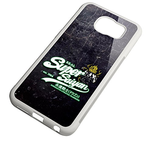 Smartcover Case Real Super Saiyan whitegreen z.B. für Iphone 5 / 5S, Iphone 6 / 6S, Samsung S6 und S6 EDGE mit griffigem Gummirand und coolem Print, Smartphone Hülle:Iphone 6 / 6S schwarz Samsung S6 EDGE weiss
