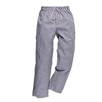 Pantalon de cuisine coton pied de poule for Pantalon pied de poule cuisine