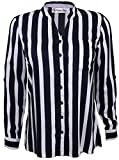 Attuendo Women's Striped Shirt with Full...
