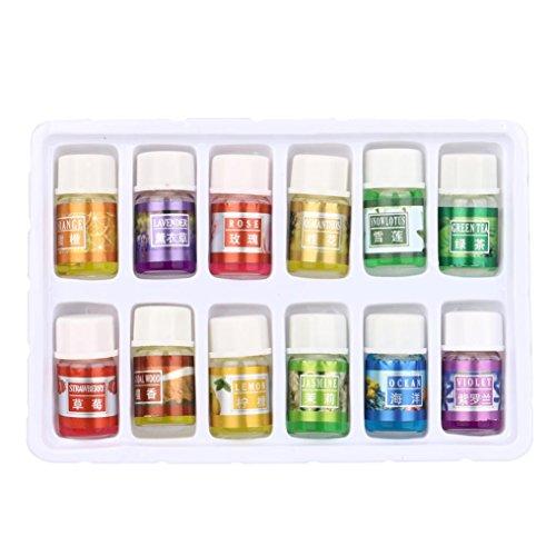 Hunpta 12 Geschmack 3ML / Box Pure Aromatherapie ätherisches Öl Hautpflege Bad Massage Schönheit...