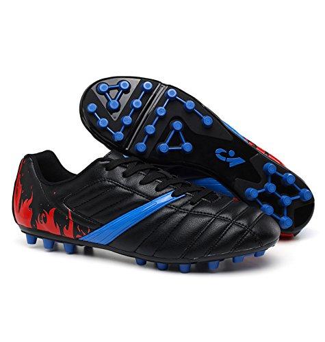 High Junior Fußball (Xing Lin Fußballschuhe Big Spike Fußball Schuhe Junior High School Kick Spiel Schuhe Blau 12 Jahre Alt 13 Jahre Alt 37 Yards, 38 Yards, 39 Yards, 33, Schwarz)