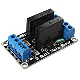 haljia 2Canal 5V módulo de relé de estado sólido con resistiva Fusible para Arduino UNO Duemilanove MEGA2560MEGA1280ARM Raspberry Pi DSP PIC