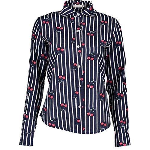 Lumeidon Donna A Maniche Lunghe Stampa Camicia Di Cotone Sottile Cardigan floreale Camicetta Stile 2#
