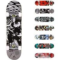 """WeSkate Completo Skateboard 31""""x8"""" 7 Capas Monopatín de Madera de Arce Skateboards con rodamientos ABEC-7 de 7 para Principiantes Niñas Niños Adolescentes Adultos"""