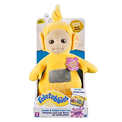 Spin Master 6029451 – Teletubbies Plush Toy Laugh & Giggle Laalaa 25 cm
