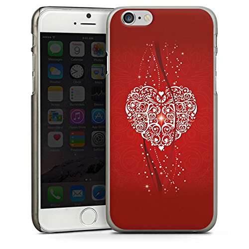 Apple iPhone 4 Housse Étui Silicone Coque Protection Amour Amour C½ur CasDur anthracite clair