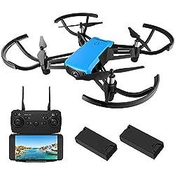 REDPAWZ R020 Blast Drone con Cámara 2.4Ghz WiFi FPV RC Quadcopter HD 720P Cámara Cuadricoptero con 120º Gran Angular y Sostenedor de Altitud, Modo sin Cabeza ,Función de Estabilización de Altitud-Azul