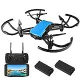 REDPAWZ R020 Drohne mit Kamera RC Drohne Mini Quadcopter WiFi FPV Mini Drohne mit 720P HD Weitwinkel-Kamera RTF Mini Drone mit 8520 Gebürstet Motor- Blau