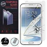 VCOMP 1 Film Vitre Verre Trempé de protection d'écran pour Samsung Galaxy Note 2 N7100/ N7105 - TRANSPARENT