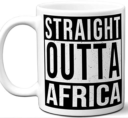 Africa Souvenir Gift Coffee Mug. Unique I Love Country Tea Cup Flag Shirt Jersey Map Travel Scarf Tshirt Pin Art Patch Hat Men Women Birthday Mothers Day Fathers Day Christmas. -