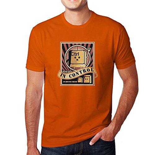 Planet Nerd Always in Control - Herren T-Shirt Orange