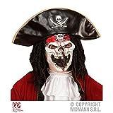 Media máscara Pirata de barco fantasma / Máscara de calavera / Halloween / Accesorios de vestuario / Máscara de Halloween ( sin Cabello y sin Sombrero )