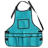 ELENXS 600D Oxford Fabric Multi Taschen Einstellbare Schürze Toolkit Garten Greening Arbeitskleidung Blau Wasserdicht