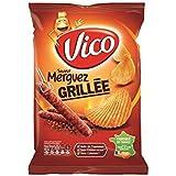 Vico chips ondulles saveur merguez grille 120g (Prix Par Unité) Envoi Rapide Et Soignée
