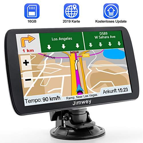 Navigation für Auto Navigationsgerät GPS Navi LKW PKW Navigationssystem 9 Zoll 16GB Lebenslang Kostenloses Kartenupdate mit POI Blitzerwarnung Sprachführung Fahrspur 2019 Europa UK 52 Karten