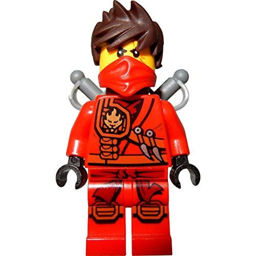 Die Besten LEGO Ninjago Kai Sets 2017 im Vergleich LEGO Ninjago: Minifigur Kai mit zersausten Haaren (roter Ninja) mit Säbeln
