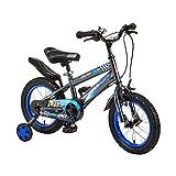 Kinderfahrräder Sport & Freizeit 2-3-4-4-jähriger männlicher und weiblicher Fahrradkinderbergkinderwagen (Color : Blue, Size : 12inch)