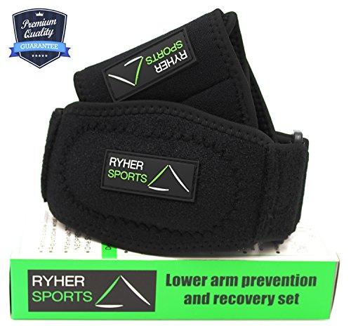 ryher-kit-per-prevenzione-e-riabilitazione-da-infortuni-supporto-per-gomito-con-cuscinetto-di-compre