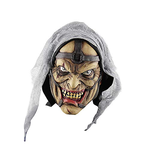 Da.Wa 1 Stück Neuheit Maske Brillant für Halloween Saisonale Dekoration Kostümparties Grimassenmann der Einen Hut Trägt
