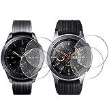 AFUNTA 4 Stück Armbanduhr-Displayschutzfolie, kompatibel mit Galaxy Watch, 42 mm/46 mm, volle Abdeckung, gehärtetes Glas, 9H Härte, Kratzfest, High Definition Cover für Smartwatch