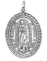 Medalla plata ley 925m Virgen Guadalupe México 29mm. ovalada [AA9808GR]