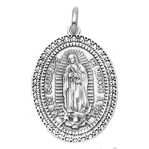 Medalla plata ley 925m Virgen Guadalupe México 29mm. [AA9808GR]