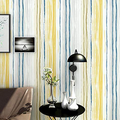 Gestreifte Polster (Nordischen stil 3d farbige vertikale gestreifte tapete für wände studie wohnzimmer sofa tv hintergrund wohnkultur tapeten rollen-400X280cm)