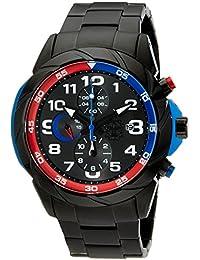 Burgmeister BM702-622 - Reloj cronógrafo de cuarzo para hombre con correa de acero inoxidable, color negro