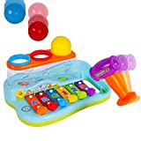 #8: Smartcraft Xylophone Piano Pounding Bench for Kids with Balls and Hammer