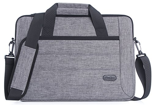 ProCase 13 - 13.5 Zoll Aktenkoffer Messenger Bag mit Schultergurt und Griff für Laptop Ultrabook MacBook Pro Air Chromebook Notebook Computer Acer Asus Dell HP Lenovo Samsung Sony Toshiba -Grau (Hp Stream 13-zoll-laptop-tasche)
