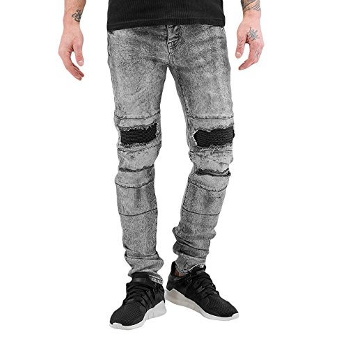 Sixth June Herren Jeans / Skinny Jeans Destroyed KneeCut Grau