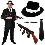 ILOVEFANCYDRESS Gangster/GANOVEN mit 58cm Hut =KOSTÜM/Verkleidung=in 5 GRÖSSEN=Large