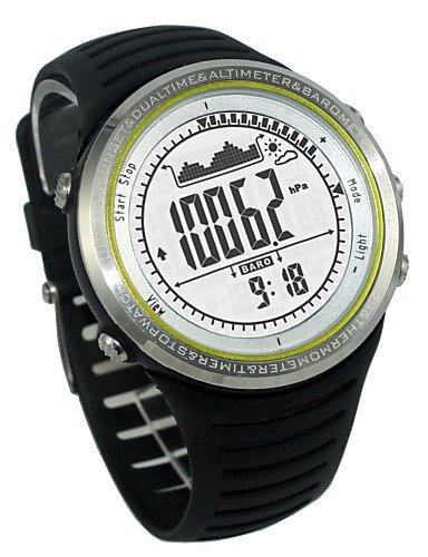 Gl Sunroad Multifunktions Sportuhr os1308005ATM wasserdicht Höhenmesser Kompass Stoppuhr Angeln Barometer Schrittzähler white-black-for men (Adidas Women Watch)