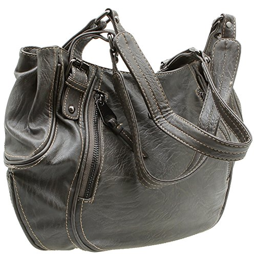 Jennifer Jones präsentiert von JeJo-Bags® - Borsa con Maniglia Donna Grau/Taupe