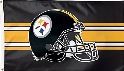 Flagge NFL Pittsburgh Steelers Helmet - 90 x 150 cm + gratis Aufkleber, Flaggenfritze®
