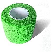 LisaCare Kohäsive Bandage Fixierbinde Selbsthaftend Elastisch - 2er Set - 5cm Breit x 4,5m dehnbar Neongrün preisvergleich bei billige-tabletten.eu